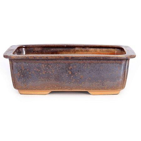 Vaso Para Bonsai Retangular Mizuno 16,5 X 12 X 5,5 CM