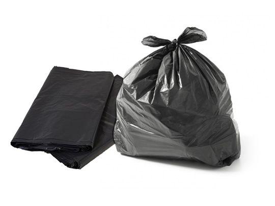 Saco de Lixo Preto de 100 litros P6 com 100 unidades