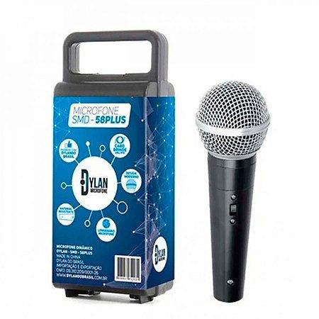 Microfone(g)mao Dylan Sm58 Pt+cabo+malet