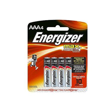 PILHA 1,5V AAAX4 ALKALINA ENERGIZER 4PCS
