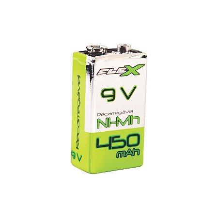 Bateria 9v Recarr Nimh 450ma Flexgold