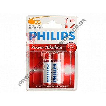 PILHA 1,5V AAX2 ALKALINA PHILIPS C/2PCS