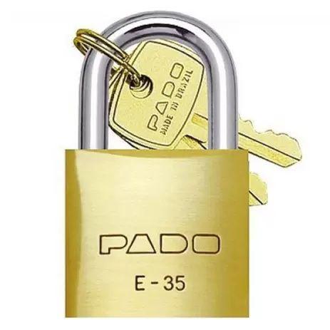 CADEADO LATAO PADO 35MM 2CHAVES