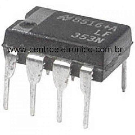 CIRCUITO INTEGRADO LF353P DIP 8PINOS