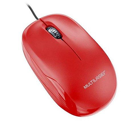 Mouse Usb Optico Multilaser Vermelho