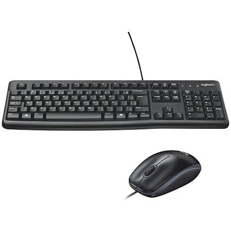 Teclado+mouse C/fio Logitech Mk120 Pt