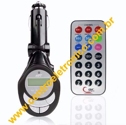 TRANSMISSOR(G)FM S/FIO DIG MP3 5X1C/(YY)