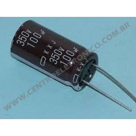 CAPACITOR ELETROLITICO 100MFX350V RD 18X36MM