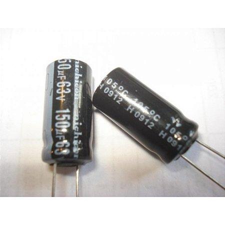 CAPACITOR ELETROLITICO 150MFX63V 105G 10X20MM