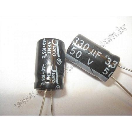 CAPACITOR ELETROL 330MFX50V 10X18MM 105G