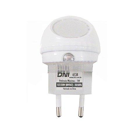 LAMPADA NOTURNA 220V 1W C/LED BR P/GIRAR