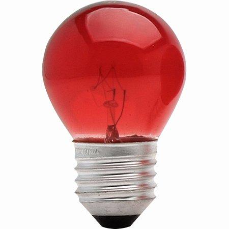 LAMPADA 12V 40MM VERMELHO ROSCA S/LAMP