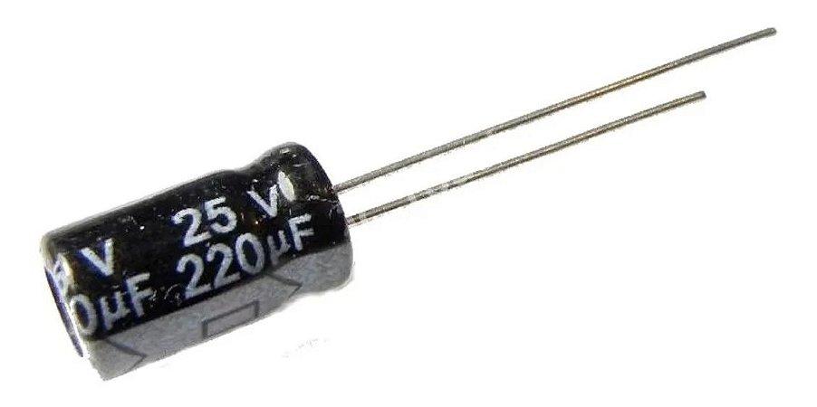 CAPACITOR ELETROLITICO 220MFX25V 105G 8X12MM