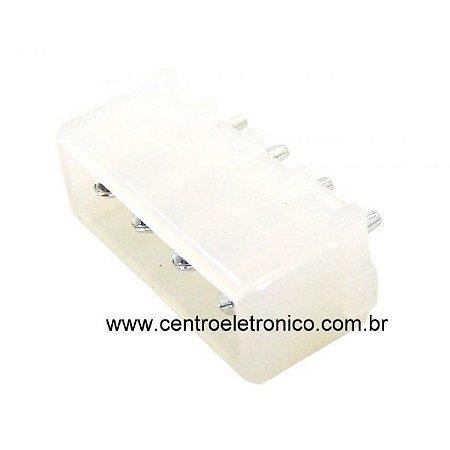CONECTOR MACHO 4VIAS P/PCI 180GR 2,54MM