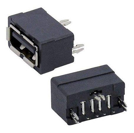 CONECTOR USB A-FEMEA 180GR PT