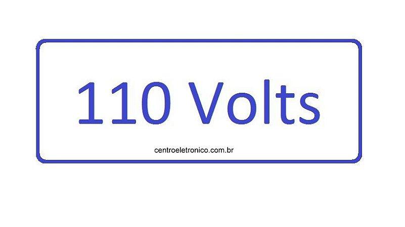 ADESIVO ADVERTENCIA 110V AZUL  KIT COM 10 PEÇAS