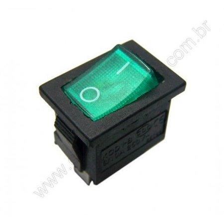 CHAVE TECLA LD 6A 4T NEON VD 20X15M FAS