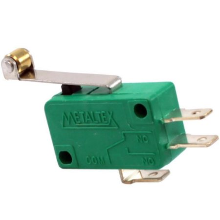 CHAVE MICRO SWITCH 10A COM HASTE 30MM+ROLDANA METALTEX NSO-060