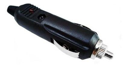 CONECTOR ACENDE CARRO 12V 3A C/LED MACHO