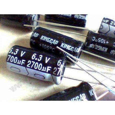 CAPACITOR ELETROLITICO 2700MFX6,3V 105GR