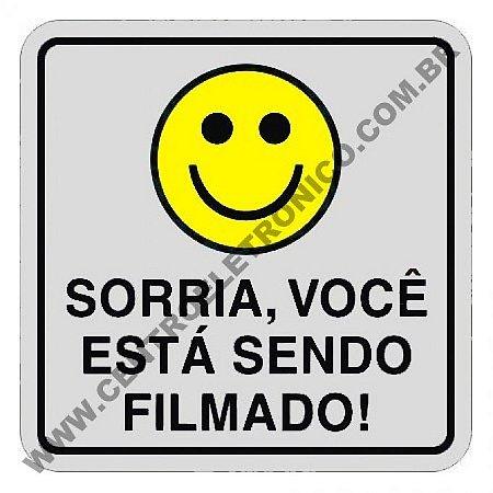 Placa Sorria Vc Filmado Br Pvc 20x10