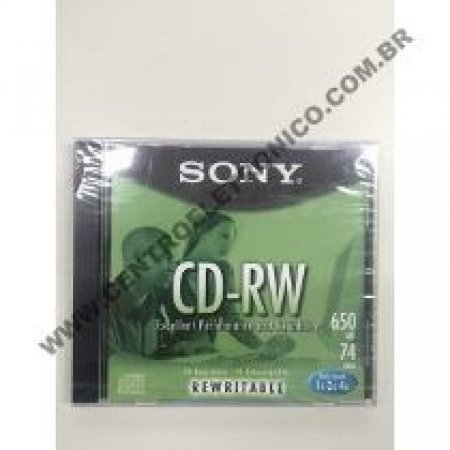 Mdrw Sony 74min Regravavel(mini Disc)