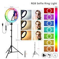 LAMPADA RING LIGHT LED C/USB RGB