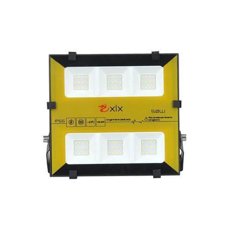 REFLETOR 4LED SMD 50W RGB BIV C/CR XLX