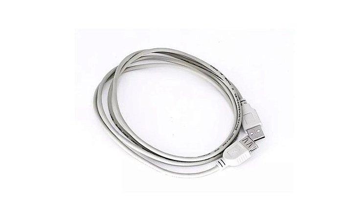CABO EXTENSOR USB 2.0 MACHO FEMEA 3 METROS BRANCO