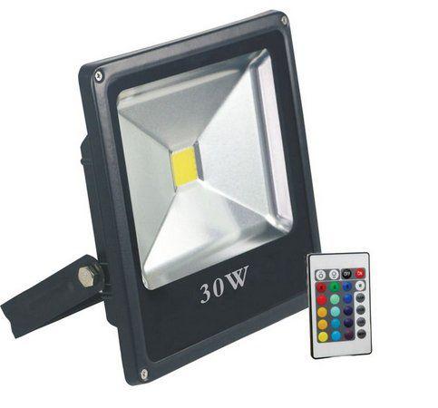 REFLETOR 1LED SLIN 30W RGB C/CONTROLE