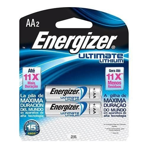 PILHA 1,5V AAX2 LITHIUM L92 ENERGIZER