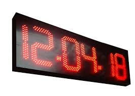 RELOGIO PDE LED 10POL 26CM C/FONTE AA