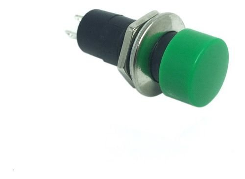 CHAVE PUSH BUTTON 3A NA 2T VERDE F10MM