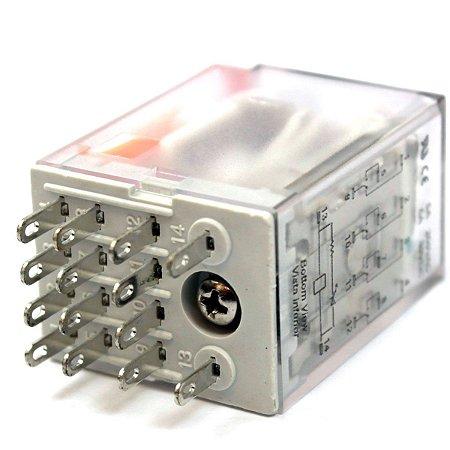 RELE 220VAC 5A 4CT REV P/SOQ C/LED(ENC)