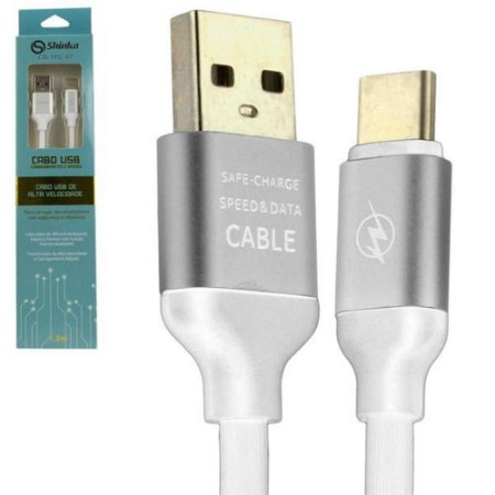 CABO USB PARA TIPO C 1,2 METROS 3.0 BRANCO SHINKA TCP-67