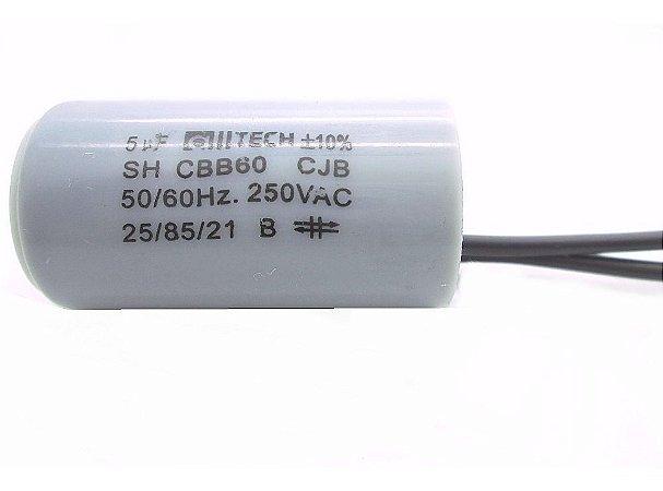 CAPACITOR PARTIDA 5MFX250VAC 2FIOS
