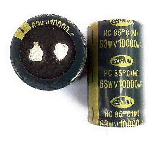 Capacitor Eletrol 10000mfx63v 30x50 85gr