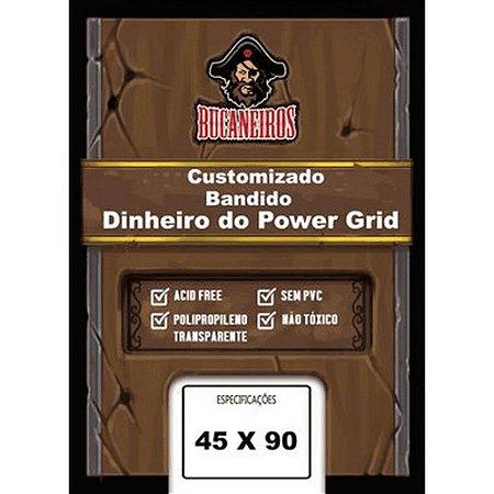 Sleeve Customizado - Bandido; Dinheiro Power Grid (45 x 90) Bucaneiros