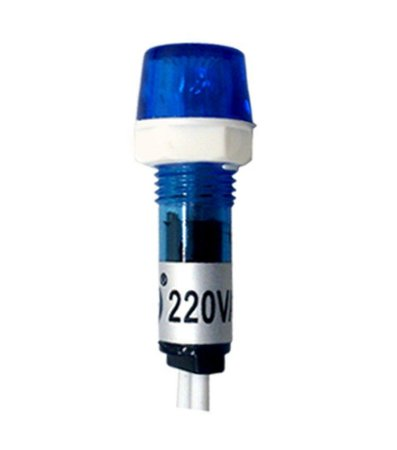Sinaleiro SDK220B LED Azul 127/220Vca Ø9mm