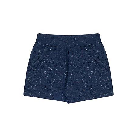 Shorts de cotton cor marinho com brilho
