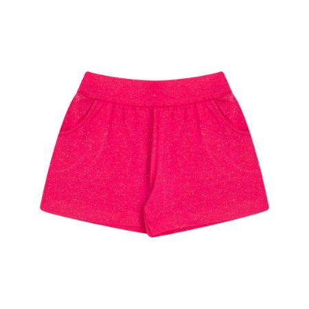 Shorts de cotton com brilho cor pink