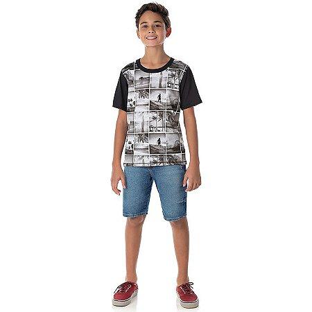 Camisa em meia malha cor chumbo