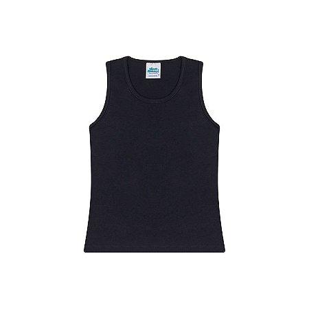 Regata em cotton cor preto