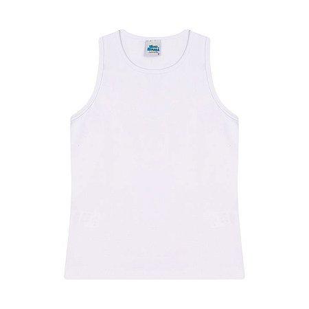 Regata em cotton cor branco