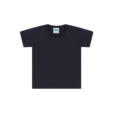 Camisa em meia malha cor preto