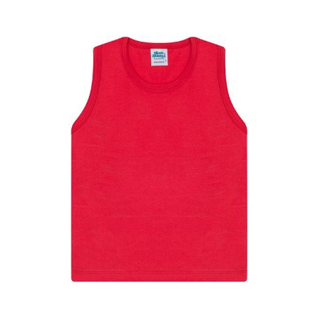 Regata em meia malha cor vermelho