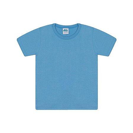 Camisa em meia malha cor azul pavão