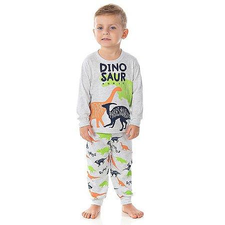 Pijama masculino manha longa que brilha  escuro cor mescla banana