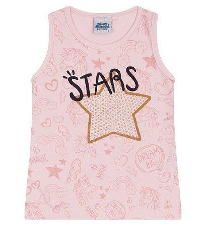 Blusa Estampada para meninas na cor rosa bebê