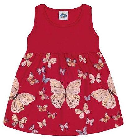 Vestido para meninas cor vermelho